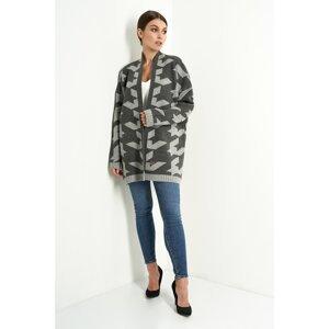Lemoniade Woman's Sweater LS289 Dark Grey/Light Grey
