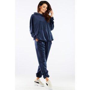 Awama Woman's Pants A459 Navy Blue