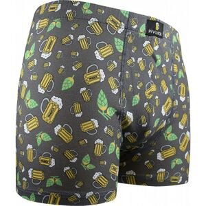 Men's boxers VoXX multicolored (Kevin-beer / small gray)