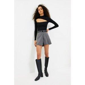 Trendyol Anthracite Belt Shorts & Bermuda