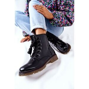 Lacquered Insulated Boots Black Lomess