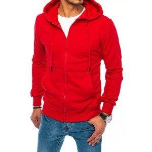 Red men's sweatshirt Dstreet BX5093