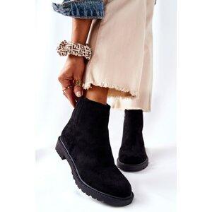 Flat Heeled Boots Black Laurette