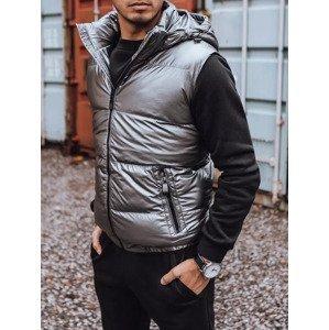 Men's dark gray vest Dstreet TX3921