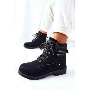 Women's Flat Hiking Boots Black Grunders