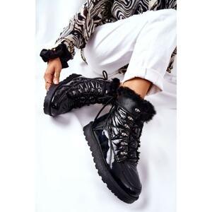 High Snow Boots Fleece-Lined Black Sneezy
