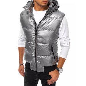 Men's silver vest Dstreet TX3923