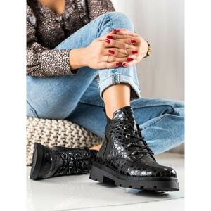 FILIPPO LACE-UP ANKLE BOOTS WITH PATTERN