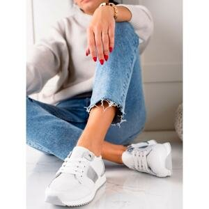 WHITE VINCEZA LEATHER SNEAKERS