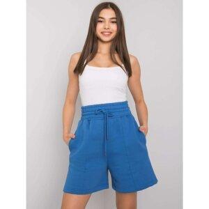 Dark blue cotton shorts