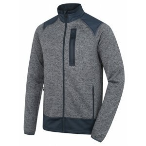 Men's fleece sweater with zipper Alan M gray / anthracite