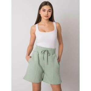 Pistachio cotton shorts