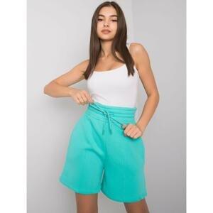 Turquoise cotton shorts