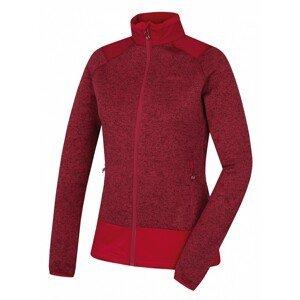 Women's fleece sweater with zipper Alan L dark. purple