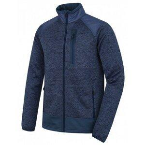 Men's fleece sweater with zipper Alan M black-blue / dark. blue