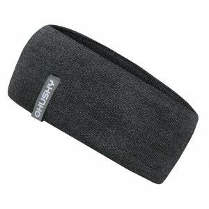 Women's merino headband Merband 2 gray highlights