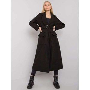 Women's black long coat