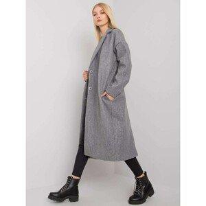 Gray women's long coat
