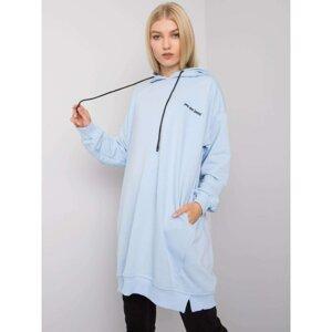 Light blue women's hoodie