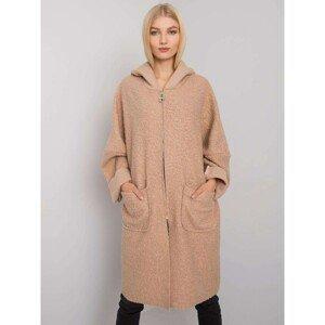 OCH BELLA Ladies' beige coat with pockets