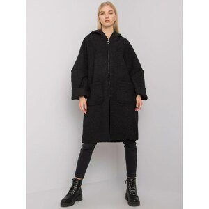 OH BELLA Black women's coat with pockets