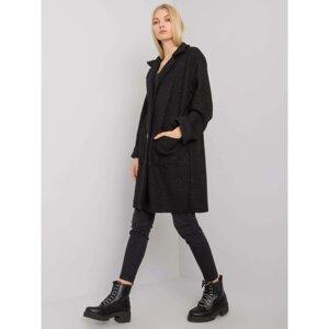 OH BELLA Black bouclé coat