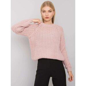 RUE PARIS Light pink knitted sweater