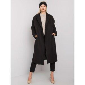 Black women's long coat