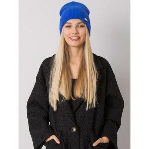 RUE PARIS Dark blue knitted beanie