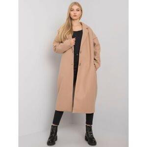 Ladies' beige long coat