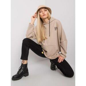 Beige kangaroo hoodie