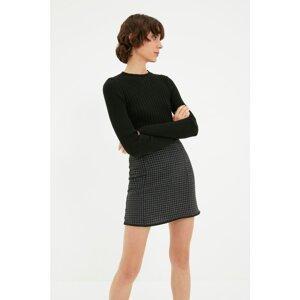Trendyol Gray Crowbar Skirt