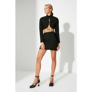Trendyol Black Tie Detailed Skirt