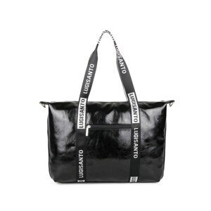 LUIGISANTO Large black bag made of eco-leather