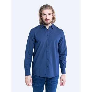Big Star Man's Shirt Shirt 141793 Blue Woven-403
