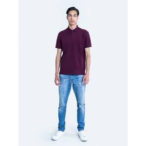 Big Star Man's -- T-shirt 152088 Burgundy Knitted-604