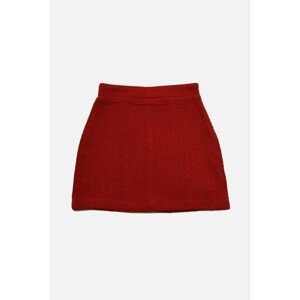 Trendyol Red Buttoned Skirt