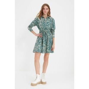 Trendyol Multicolored Shirt Collar Patterned Dress