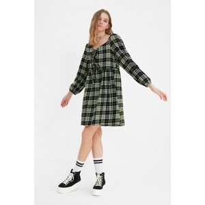 Trendyol Black Check Dress