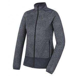 Women's fleece sweater with zipper Alan L dark. grey