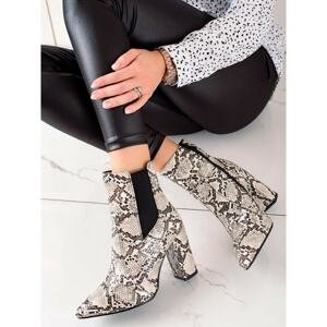 MARQUIZ STYLISH ANKLE BOOTS ON THE SNAKE PRINT POST