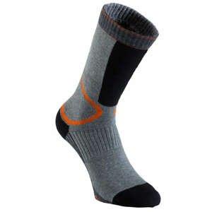OXELO Ponožky Fit Sivo-oranžové