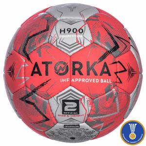 ATORKA Lopta H900 Ihf V2 Ružovo-sivá