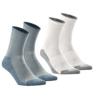 QUECHUA Vysoké Ponožky 50 2 Ks