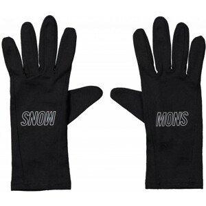 Mons Royale Volta Glove Liner - Black / Reflective :