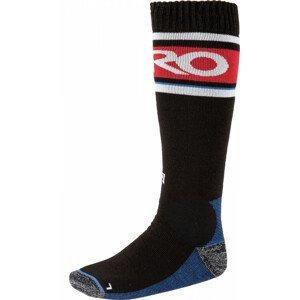 Nitro Anthem Socks - blk-wht-red-blue Veľkosť ponožiek: M