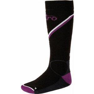Nitro Monarch Socks - blk-gry-purp-wht Veľkosť ponožiek: M