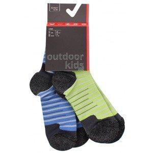 Outdoor Kids 1.0 dětské ponožky barva: modrá-zelená;velikost (obuv / ponožky): EU 23-26