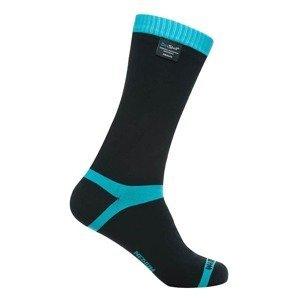 Nepremokavé ponožky DexShell Coolvent Farba Aqua Blue Stripe, Veľkosť L