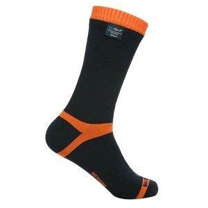 Nepromokavé ponožky DexShell Hytherm PRO Farba Tangelo Red Stripe, Veľkosť XL